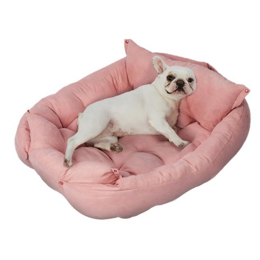 Picture of PaWz Pet Bed 2 Way Use Dog Cat Soft Warm Calming Mat Sleeping Kennel Sofa Pink S   Free Delivery