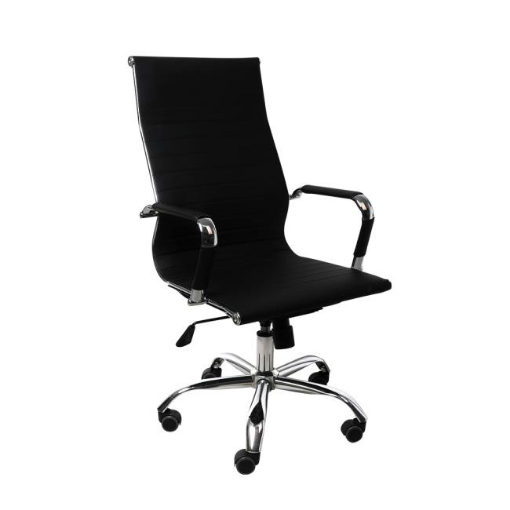 Picture of Office Chair Gaming Chair Home Work Study PU Mat Seat High-Back Computer Black   Free Delivery