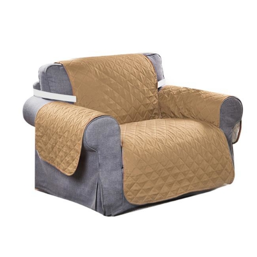 Picture of 1 Seater Sofa Covers Quilted Couch Lounge Protectors Slipcovers Ginger | Free Delivery