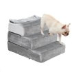 Picture of PaWz Pet Stair 3 Step Ramp Portable Adjustable Climbing Ladder Soft Washable M   Free Delivery