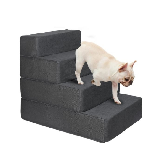 Picture of PaWz Pet Stairs 4 Step Ramp Portable Adjustable Climbing Ladder Soft Washable | Free Delivery