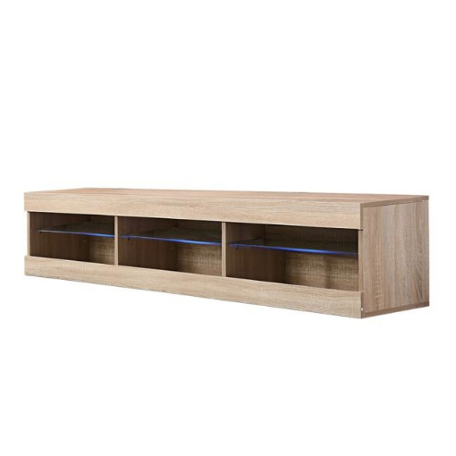 Picture of Levede TV Cabinet LED Entertainment Unit Storage Stand Cabinets Modern Wood Oak | Free Delivery