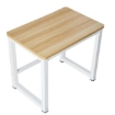 Picture of 90cmx60cm Modern Metal Computer Desk Study Table Natural White | Free Delivery