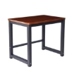Picture of 90cmx60cm Modern Metal Computer Desk Study Table Walnut Black | Free Delivery