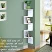 5 Tier Corner Wall Shelf Display