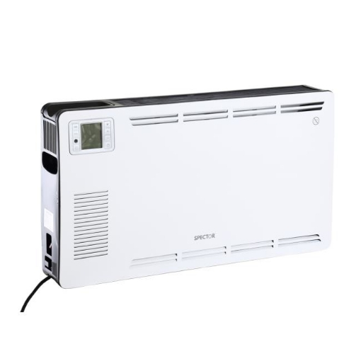 Picture of Spector 2200W Metal Portable Electric Panel Heater Convection Panel Timer White | Free Delivery