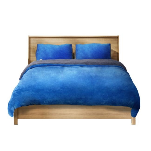 Picture of Luxury Bedding Two-Sided Quilt Cover with Pillowcase Double Size Navy Blue   Free Delivery