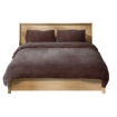 Picture of Luxury Bedding Two-Sided Quilt Cover with Pillowcase Double Size Taupe | Free Delivery