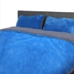 Picture of Luxury Bedding Two-Sided Quilt Cover with Pillowcase Queen Size Navy Blue | Free Delivery