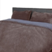 Picture of Luxury Bedding Two-Sided Quilt Cover with Pillowcase Queen Size Taupe | Free Delivery