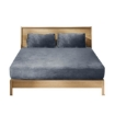 Picture of Ultra Soft Fitted Bedsheet with Pillowcase Double Size Dark Grey | Free Delivery