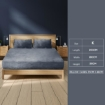 Picture of Bedding Set Ultrasoft Fitted Bed Sheet with Pillowcases Dark Grey King | Free Delivery