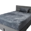 Picture of Bedding Set Ultrasoft Fitted Bed Sheet with Pillowcases Dark Grey King Single | Free Delivery