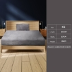 Picture of Bedding Set Ultrasoft Fitted Bed Sheet with Pillowcases Silver Grey King Single   Free Delivery