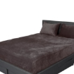 Picture of Bedding Set Ultrasoft Fitted Bed Sheet with Pillowcases Mink Queen   Free Delivery