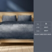 Picture of Luxury Flannel Quilt Cover with Pillowcase Dark Grey Double | Free Delivery