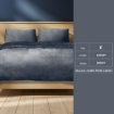 Picture of Luxury Flannel Quilt Cover with Pillowcase Dark Grey King   Free Delivery