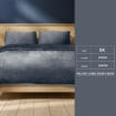 Picture of Luxury Flannel Quilt Cover with Pillowcase Dark Grey Super King   Free Delivery