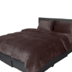 Picture of Luxury Flannel Quilt Cover with Pillowcase Mink Super King   Free Delivery