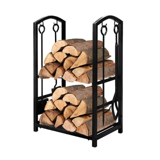 Picture of Traderight Firewood Rack 4 Fireplace Tools Log Wood Steel Large Holder Storage   Free Delivery