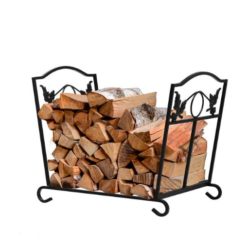Picture of Traderight Firewood Rack Storage Foldable Log Wood Outdoor Indoor Leave Design | Free Delivery