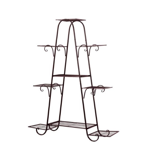 Picture of Levede Plant Stand New Design Flower Pot Corner Shelf Bronze Type 1 | Free Delivery
