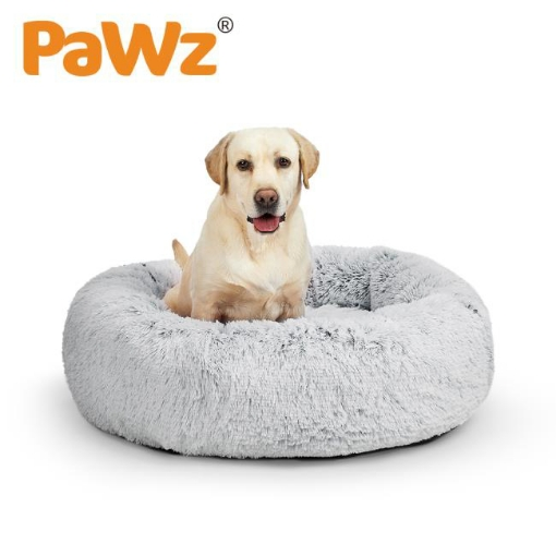Picture of PaWz Pet Bed Cat Dog Donut Nest Calming Mat Soft Plush Kennel M | Free Delivery