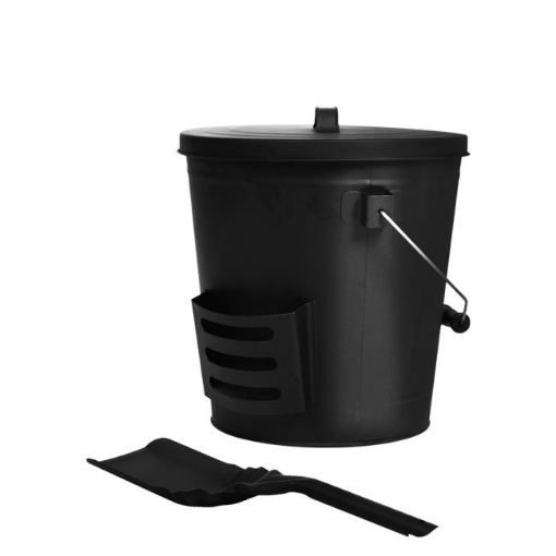 Picture of Traderight  Ash Bucket Shovel Lid Fireplace Tool Coal Wood Log  22L Capacity   Free Delivery