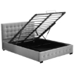 Picture of Levede Bed Frame Queen Size Mattress Platform Fabirc With Storage Gas Lift | Free Delivery