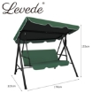 Picture of Levede Swing Chair Hammock Outdoor Furniture Garden Canopy Cushion Bench Green | Free Delivery