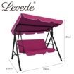 Picture of Levede Swing Chair Hammock Outdoor Furniture Garden Canopy Cushion Bench Red   Free Delivery