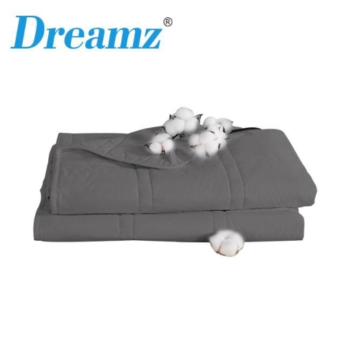 Picture of Dreamz Weighted Blanket Cotton Heavy Gravity Adults Deep Relax Relief 7KG Grey | Free Delivery