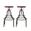 Picture of Levede 4x Industrial Bar Stools Kitchen Stool Wooden Barstools Swivel Chair   Free Delivery