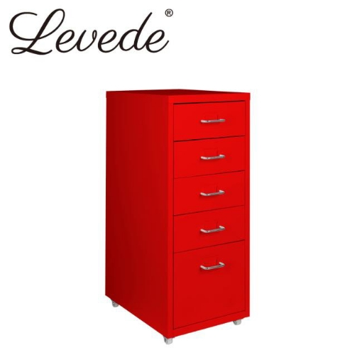 Picture of Levede Filing Cabinet Files Storage Cabinets Steel Rack Home Office 5 Drawer   Free Delivery