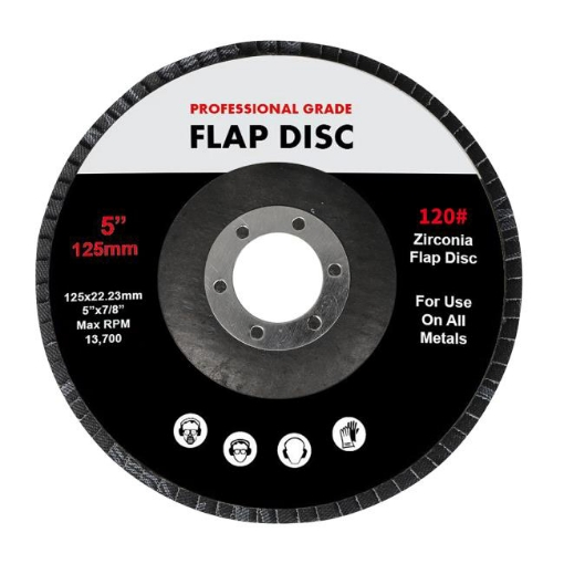 """Picture of Traderight Flap Discs 125mm 5"""" Zirconia Sanding Wheel 120 # Sander Grinding x100 