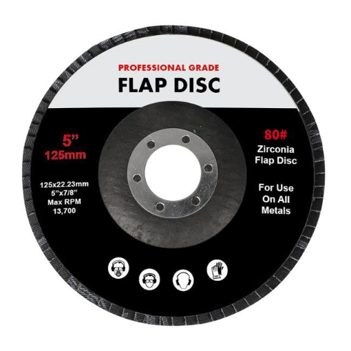 """Picture of Traderight Flap Discs 125mm 5"""" Zirconia Sanding Wheel 80# Sander Grinding x10 