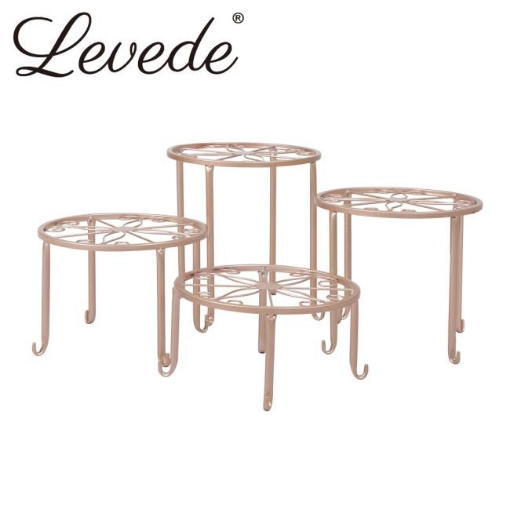 Picture of 4 x Levede Metal Plant Stand Outdoor Indoor Garden Decor Flower Pot Rack Iron | Free Delivery