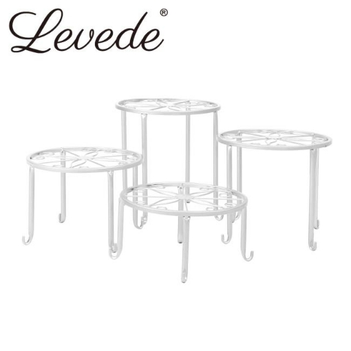 Picture of 4 x Levede Metal Plant Stand Outdoor Indoor Garden Decor Flower Pot Rack Iron   Free Delivery