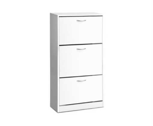 Picture of Shoe Cabinet Shoes Storage Rack Organiser 36 Pairs White Shelf Cupboard   Free Delivery