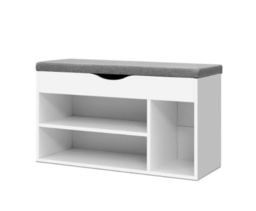 Picture of Shoe Cabinet Bench Shoes Organiser Storage Rack Shelf White Cupboard Box Laila's Creations   Free Delivery