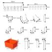Picture of Pegboard Hooks Storage Bins Hanger Locks Parts Steel Tray Organizer Bin 138PC | Free Delivery