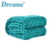 Picture of Dreamz Knitted Weighted Blanket Chunky Bulky Knit Throw Blanket 3KG Blue Green | Free Delivery