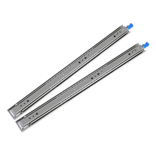Picture of 150KG Drawer Slides 500MM Full Extension Soft Close Locking Ball Bearing Pair   Free Delivery