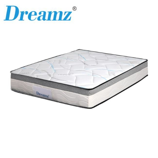 Picture of Dreamz Mattress King Size Bed Top Pocket Spring Medium Firm Premium Foam 25CM | Free Delivery