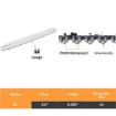 """Picture of Traderight 12"""" Chainsaw Chain Blade Saw Replaceent Spare Chains Semi Chisel 2PCS   Free Delivery"""