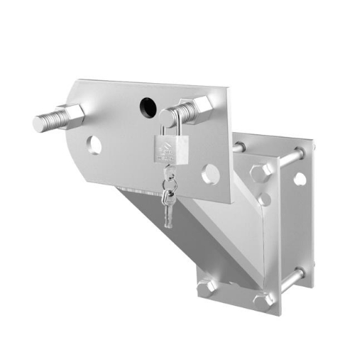 Picture of Spare Wheel Bracket Carrier Universal Tyre Holder Trailer Caravan Boat With Key   Free Delivery