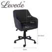 Picture of Levede Office Chair Fabric Computer Gaming Chairs Executive Adjustable Black   Free Delivery
