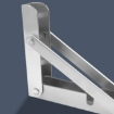 """Picture of 2Pcs 10"""" Folding Table Bracket Stainless Steel Triangle 150KG Wall Shelf Bench 