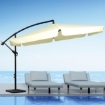 Picture of 3M Patio Outdoor Umbrella Cantilever Beige With Base Stand | Free Delivery
