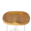 Picture of Levede Industrial Bar Stools Kitchen Stool Wooden Barstools Swivel Chair White   Free Delivery